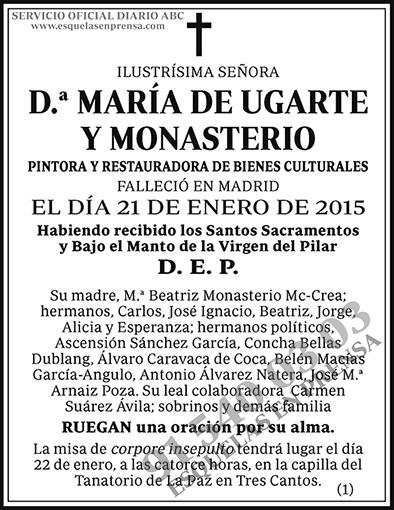 María de Ugarte y Monasterio